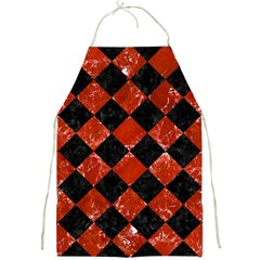 Square2 Black Marble & Red Marble Full Print Apron