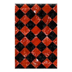 Square2 Black Marble & Red Marble Shower Curtain 48  X 72  (small)