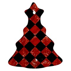 Square2 Black Marble & Red Marble Ornament (christmas Tree)