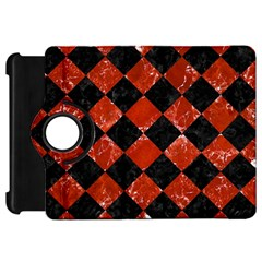 Square2 Black Marble & Red Marble Kindle Fire Hd Flip 360 Case