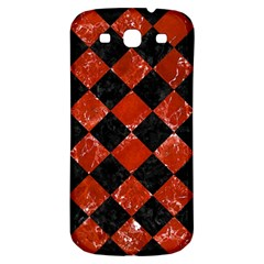 Square2 Black Marble & Red Marble Samsung Galaxy S3 S Iii Classic Hardshell Back Case