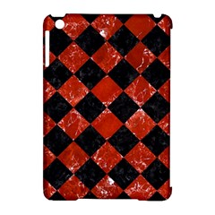 Square2 Black Marble & Red Marble Apple Ipad Mini Hardshell Case (compatible With Smart Cover)