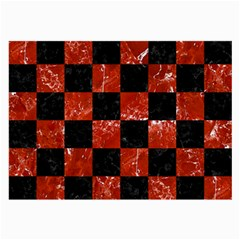 Square1 Black Marble & Red Marble Large Glasses Cloth