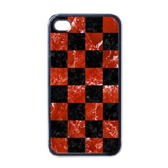Square1 Black Marble & Red Marble Apple Iphone 4 Case (black)