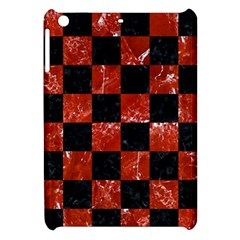 Square1 Black Marble & Red Marble Apple Ipad Mini Hardshell Case