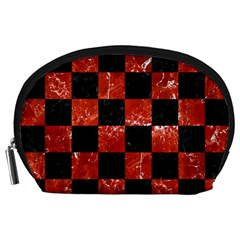 Square1 Black Marble & Red Marble Accessory Pouch (large)