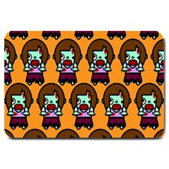 Zombie Woman Fill Orange Large Doormat