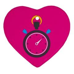 Alarm Clock Houre Ornament (heart)