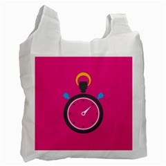 Alarm Clock Houre Recycle Bag (one Side)