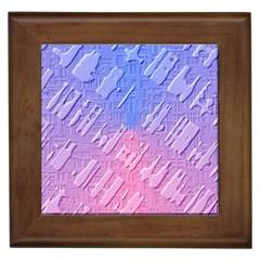 Baby Pattern Framed Tiles