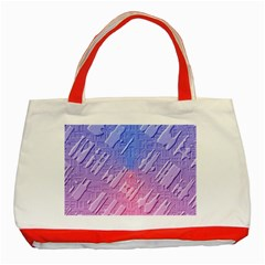 Baby Pattern Classic Tote Bag (red)