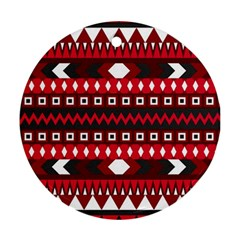 Asterey Red Pattern Ornament (round)