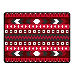 Asterey Red Pattern Double Sided Fleece Blanket (small)