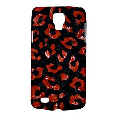 Skin5 Black Marble & Red Marble (r) Samsung Galaxy S4 Active (i9295) Hardshell Case