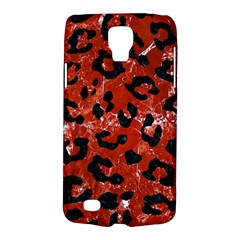 Skin5 Black Marble & Red Marble Samsung Galaxy S4 Active (i9295) Hardshell Case