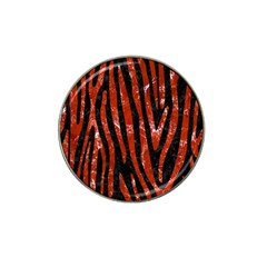 Skin4 Black Marble & Red Marble (r) Hat Clip Ball Marker (10 Pack)