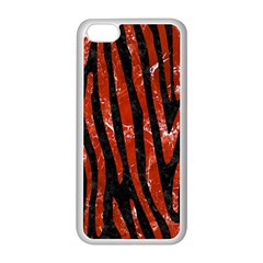 Skin4 Black Marble & Red Marble (r) Apple Iphone 5c Seamless Case (white)