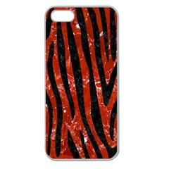 Skin4 Black Marble & Red Marble Apple Seamless Iphone 5 Case (clear)