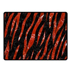 Skin3 Black Marble & Red Marble Double Sided Fleece Blanket (small)