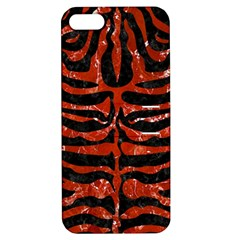 Skin2 Black Marble & Red Marble Apple Iphone 5 Hardshell Case With Stand