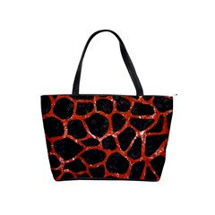 Skin1 Black Marble & Red Marble (r) Classic Shoulder Handbag