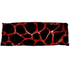 Skin1 Black Marble & Red Marble (r) Body Pillow Case (dakimakura)