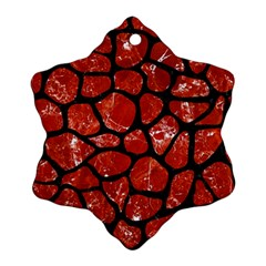 Skin1 Black Marble & Red Marble Ornament (snowflake)