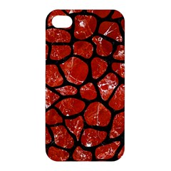 Skin1 Black Marble & Red Marble Apple Iphone 4/4s Hardshell Case