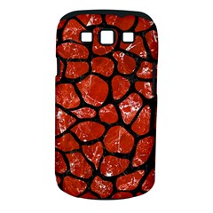 Skin1 Black Marble & Red Marble Samsung Galaxy S Iii Classic Hardshell Case (pc+silicone)