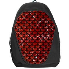 Scales3 Black Marble & Red Marble (r) Backpack Bag