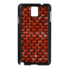 Scales3 Black Marble & Red Marble (r) Samsung Galaxy Note 3 N9005 Case (black)