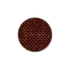 Scales3 Black Marble & Red Marble Golf Ball Marker (10 Pack)