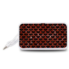 Scales3 Black Marble & Red Marble Portable Speaker (white)