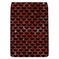 Scales3 Black Marble & Red Marble Removable Flap Cover (l)