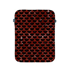 Scales3 Black Marble & Red Marble Apple Ipad 2/3/4 Protective Soft Case
