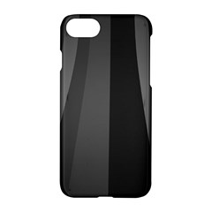 Black Minimalistic Gray Stripes Apple Iphone 7 Hardshell Case