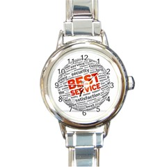 Best Service Round Italian Charm Watch