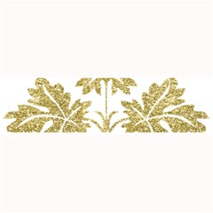 Gold Authentic Silvery Pattern Large Bar Mats