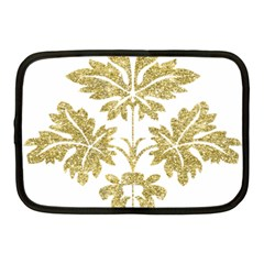 Gold Authentic Silvery Pattern Netbook Case (Medium)