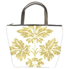 Gold Authentic Silvery Pattern Bucket Bags
