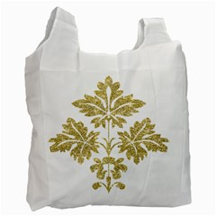 Gold Authentic Silvery Pattern Recycle Bag (One Side)