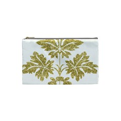 Gold Authentic Silvery Pattern Cosmetic Bag (Small)