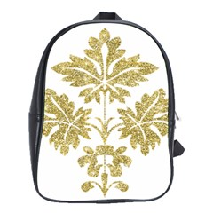 Gold Authentic Silvery Pattern School Bags(Large)