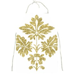 Gold Authentic Silvery Pattern Full Print Aprons
