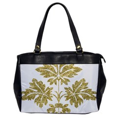 Gold Authentic Silvery Pattern Office Handbags