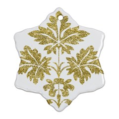 Gold Authentic Silvery Pattern Ornament (Snowflake)