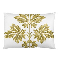 Gold Authentic Silvery Pattern Pillow Case (Two Sides)