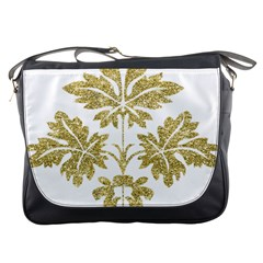 Gold Authentic Silvery Pattern Messenger Bags