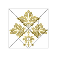 Gold Authentic Silvery Pattern Acrylic Tangram Puzzle (4  x 4 )