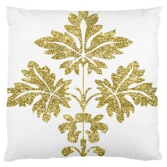 Gold Authentic Silvery Pattern Large Cushion Case (Two Sides)